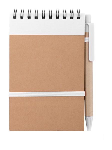 Blok Ecocard - Bílá / Přírodní