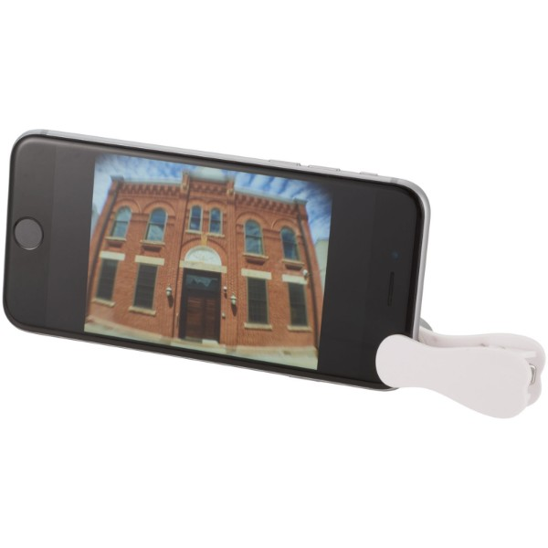 Optic wide-angle and macro smartphone camera lens - White / Silver