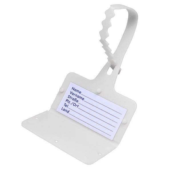 "Luggage Tag ""Address"" - White"