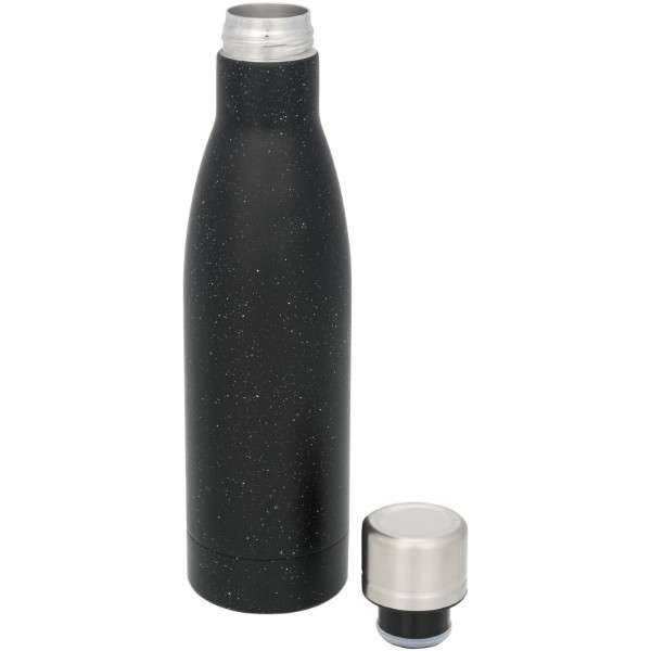 Vasa 500 ml speckled copper vacuum insulated bottle - Solid black