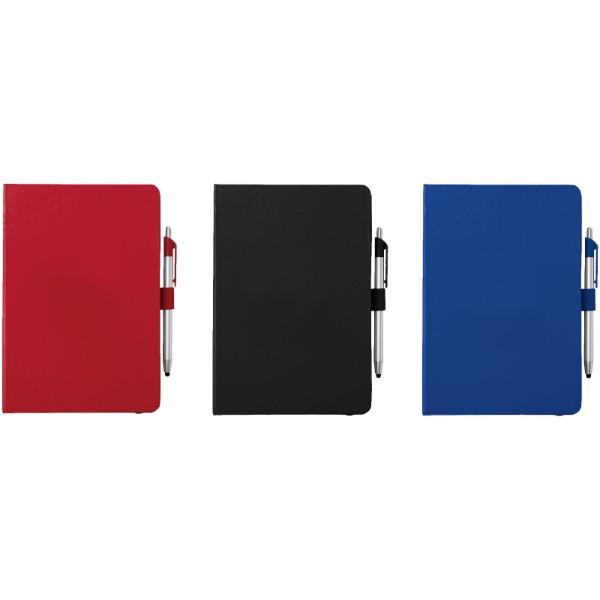 Notes A5 i długopis ze stylusem Crown - Czerwony