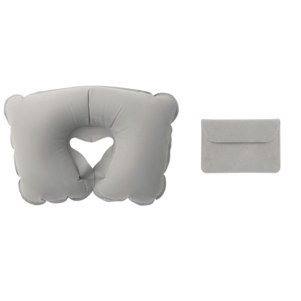 Inflatable pillow in pouch Travelconfort - Grey