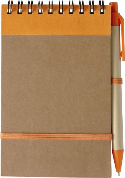 Notizbuch 'Pocket' aus recyceltem Karton - Orange