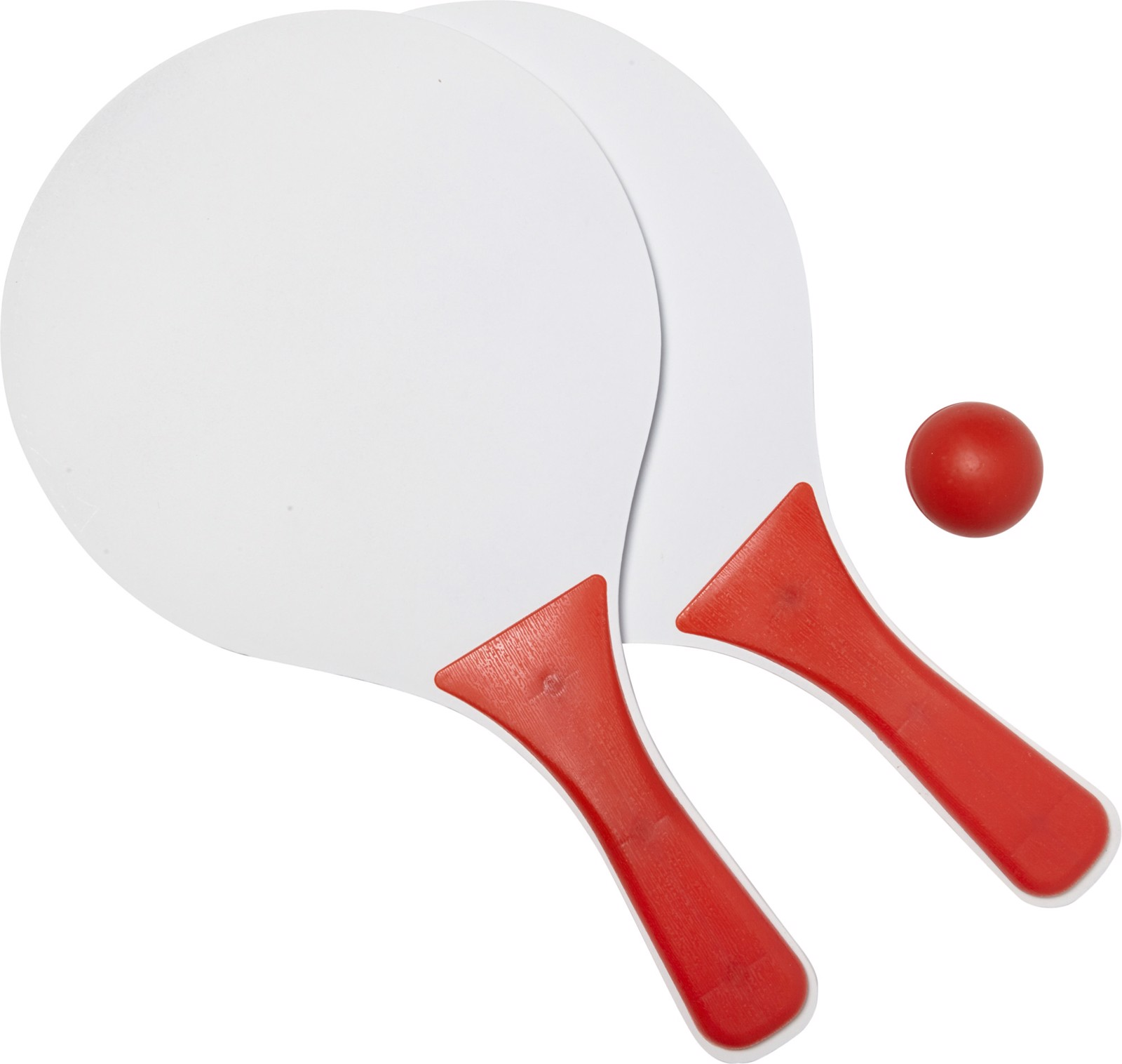 Wooden bat and ball set - Red