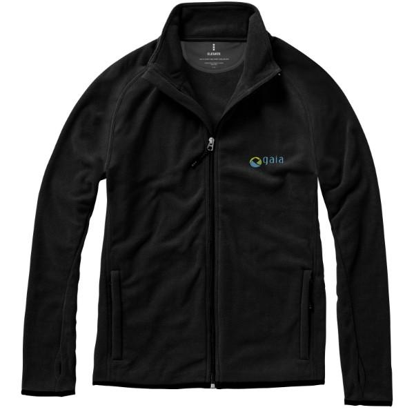 Brossard micro fleece full zip jacket - Solid Black / 3XL