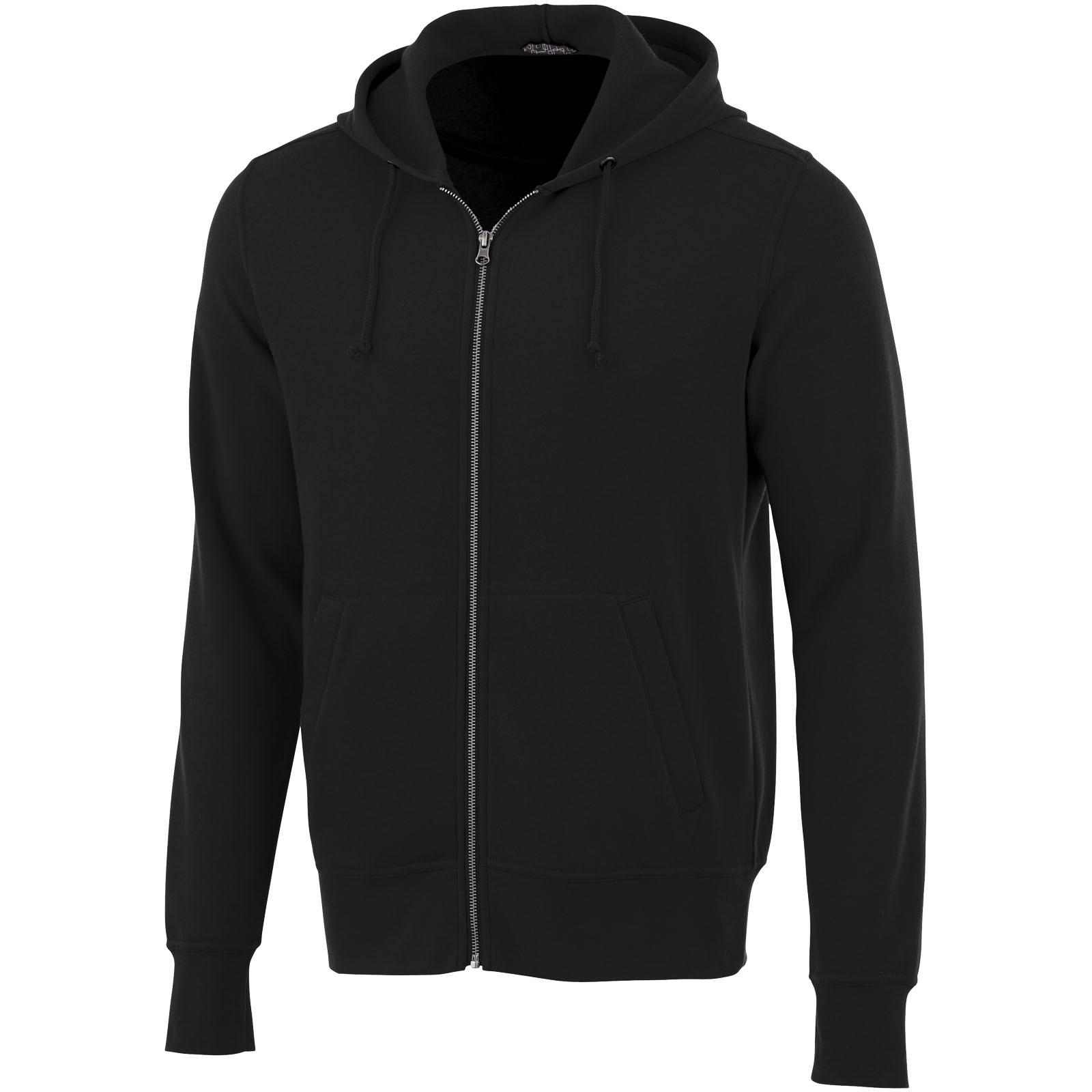 Unisex mikina na zip s kapucí Cypress - Černá / XXS