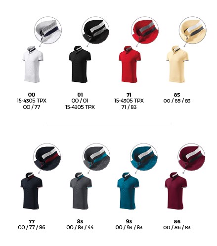 Polokošile pánská Malfinipremium Collar Up - Bílá / 2XL