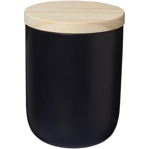 Lani Kerze mit Holzdeckel - Schwarz