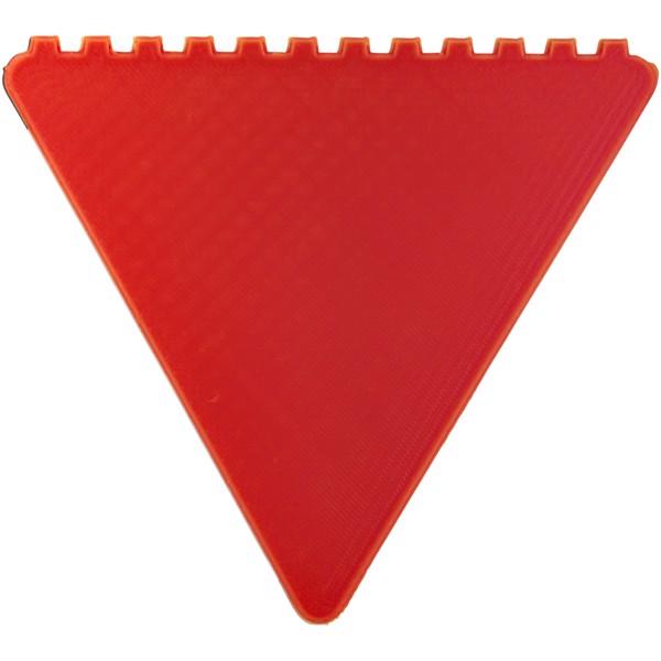 Trojúhelníková škrabka na led Frosty - Červená s efektem námrazy