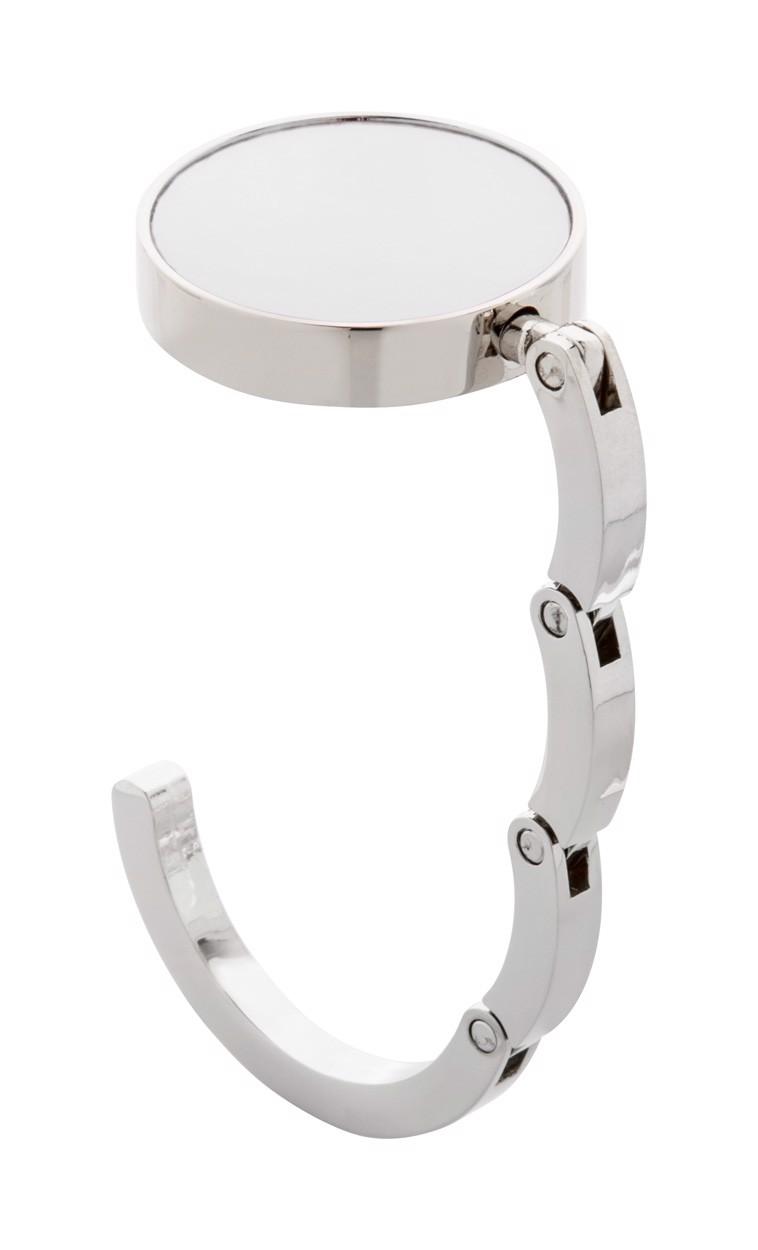 Cârlig Geantă Factor - Argintiu / Alb