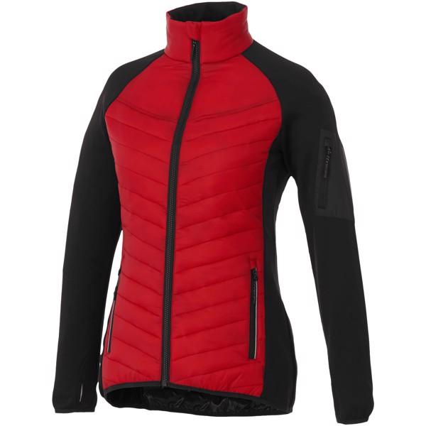 Dámská oteplená bunda Banff - Červená s efektem námrazy / S