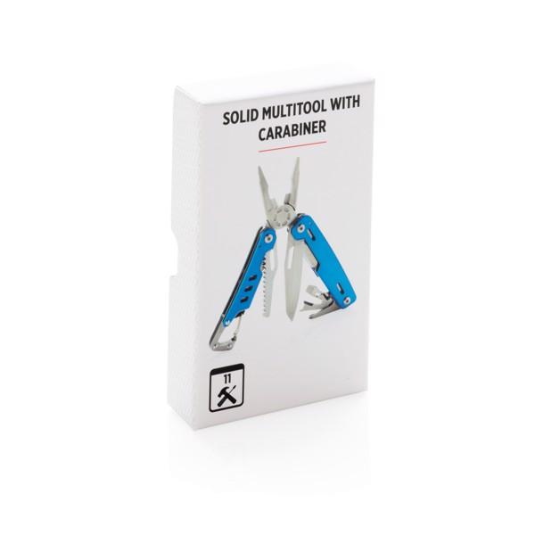 Solid többfunkciós szerszám karabínerrel - Kék