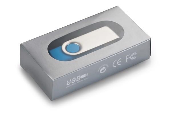 CLAUDIUS 8GB. USB flash disk, 8GB - Bílá