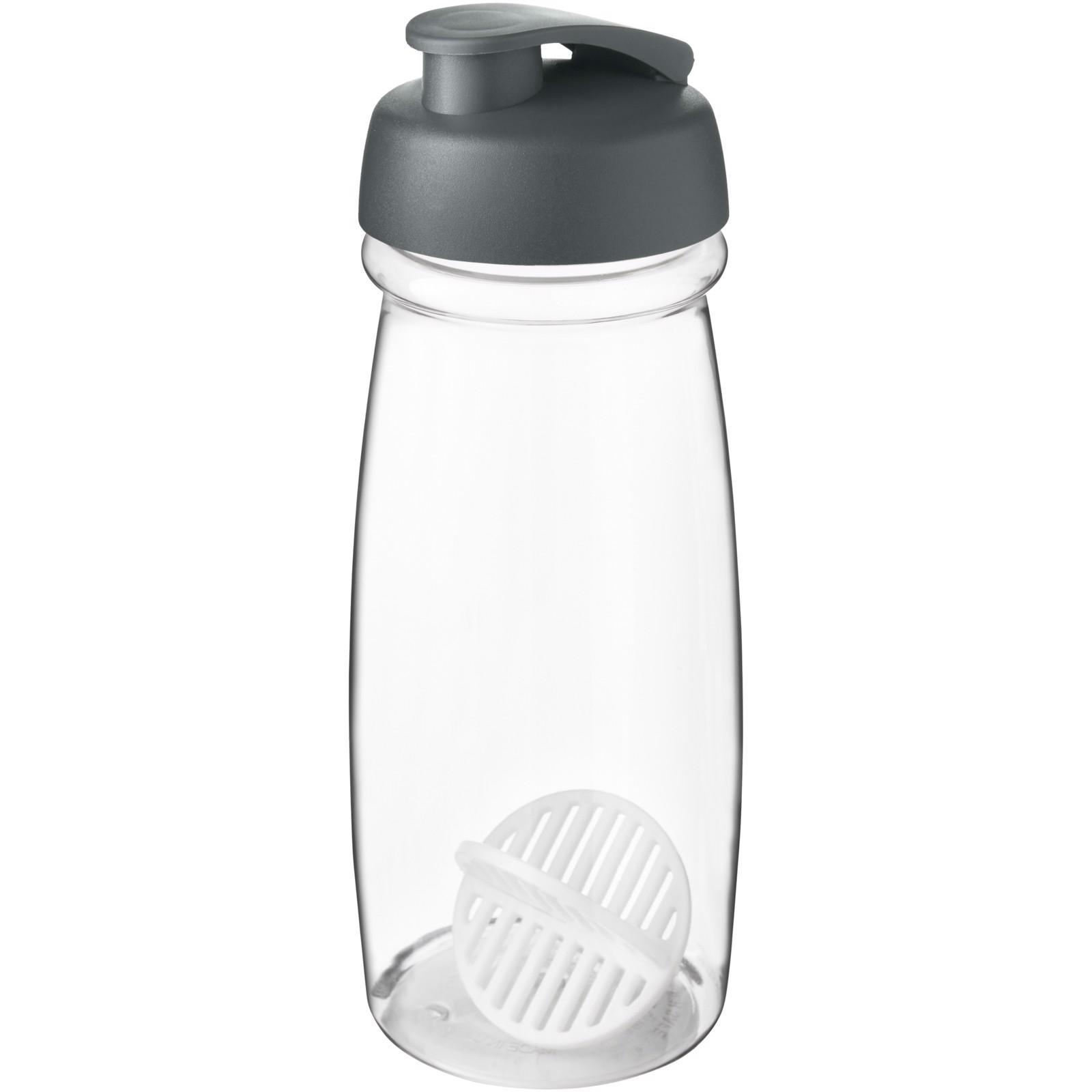 H2O Active Pulse 600 ml shaker bottle - Grey / Transparent