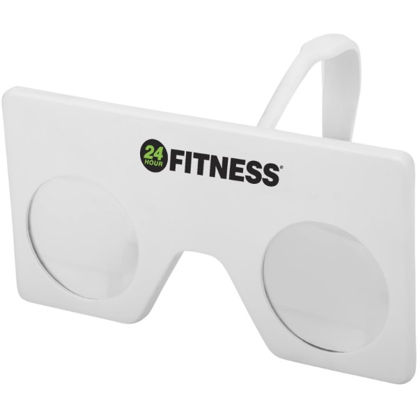 Vish mini virtual reality glasses with clip - White