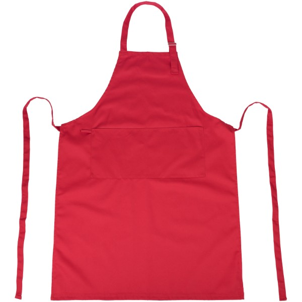Zora apron with adjustable neck strap - Red