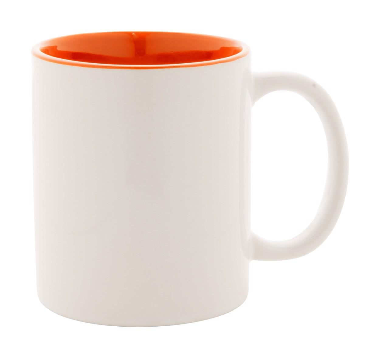 Hrnek Loom - Bílá / Oranžová