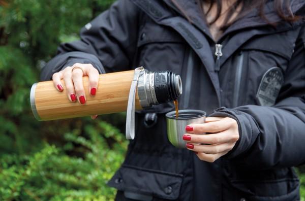 Bambusová termoska