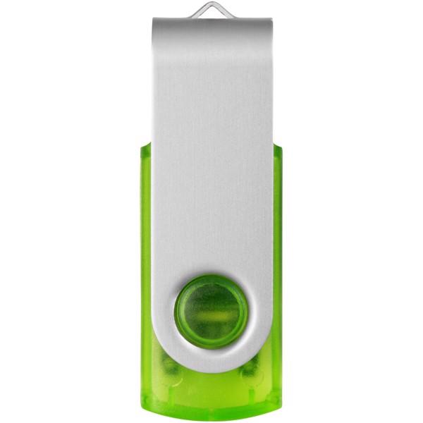 Rotační průsvitné USB - Zelená / 8GB