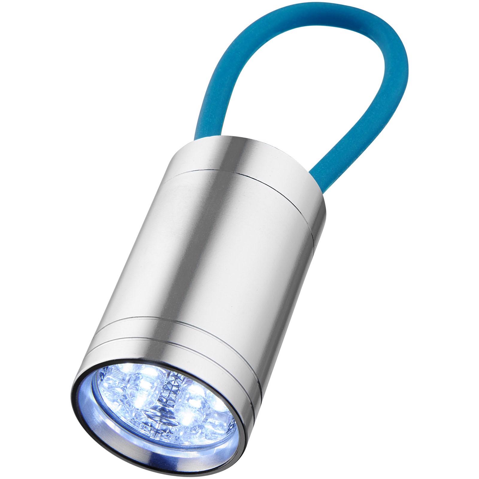 Svítilna Vela se 6 LED a svítícím popruhem - Process Blue
