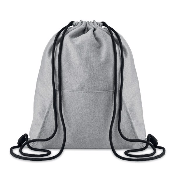 Drawstring bag with pocket Sweatstring - Grey