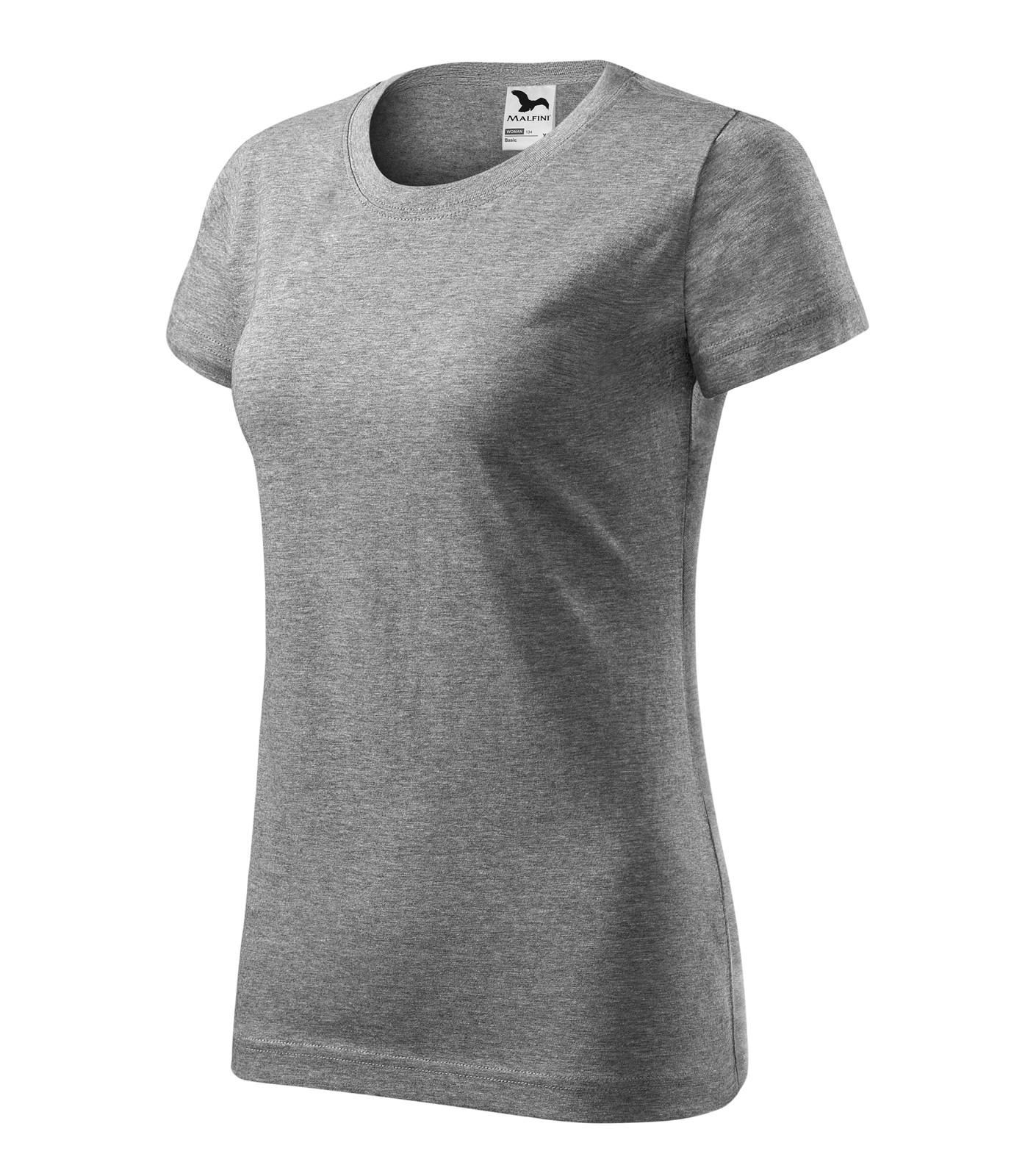 T-shirt women's Malfini Basic - Dark Gray Melange / M