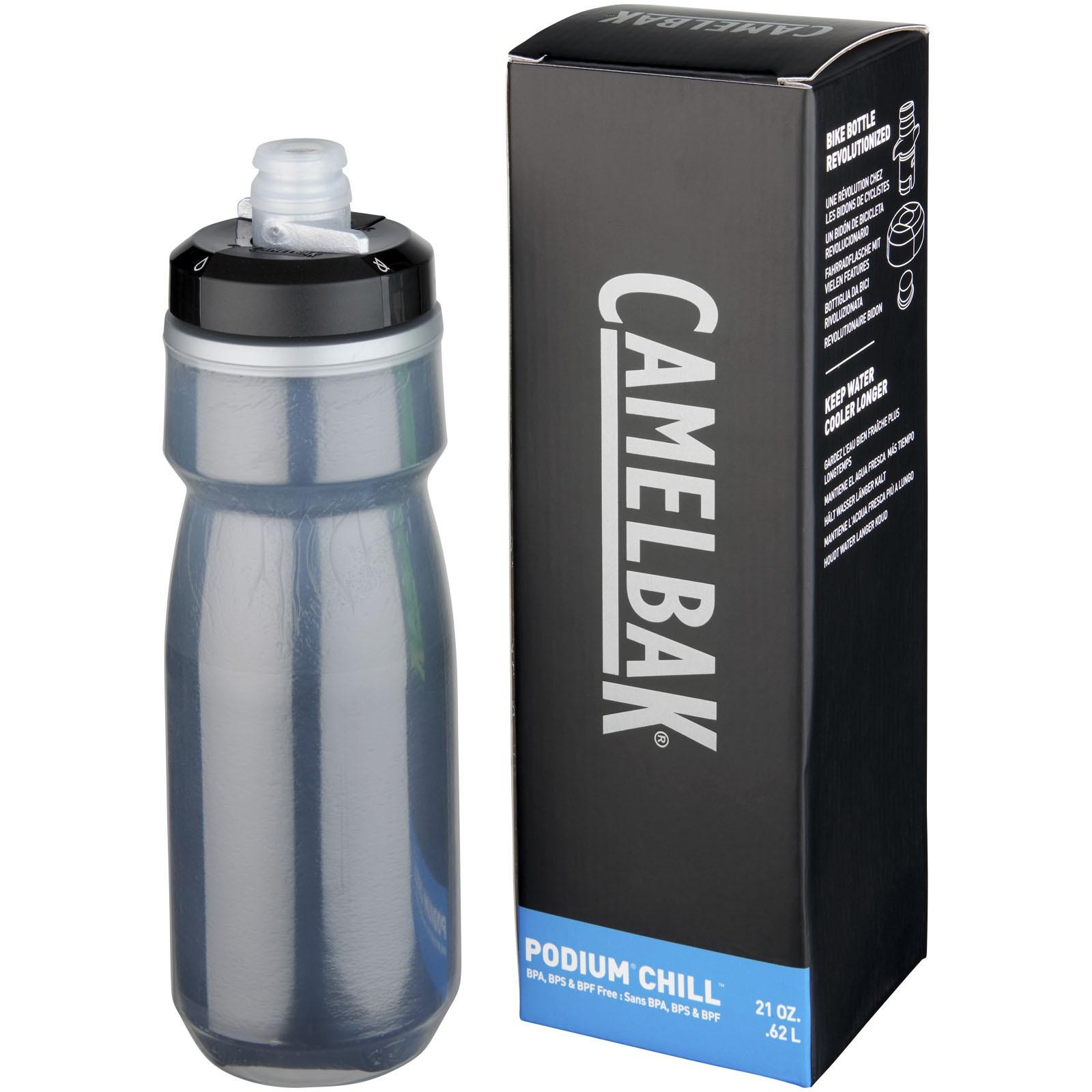 Podium Chill 620 ml sport bottle - Solid black