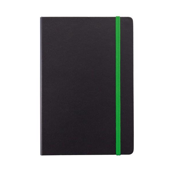 Poznámkový blok A5 sbarevnými okraji - Zelená / Černá