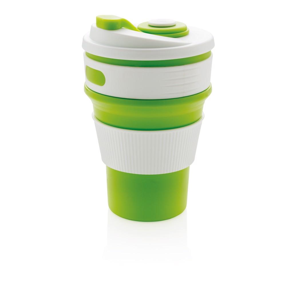 Skládací silikonový hrnek - Zelená