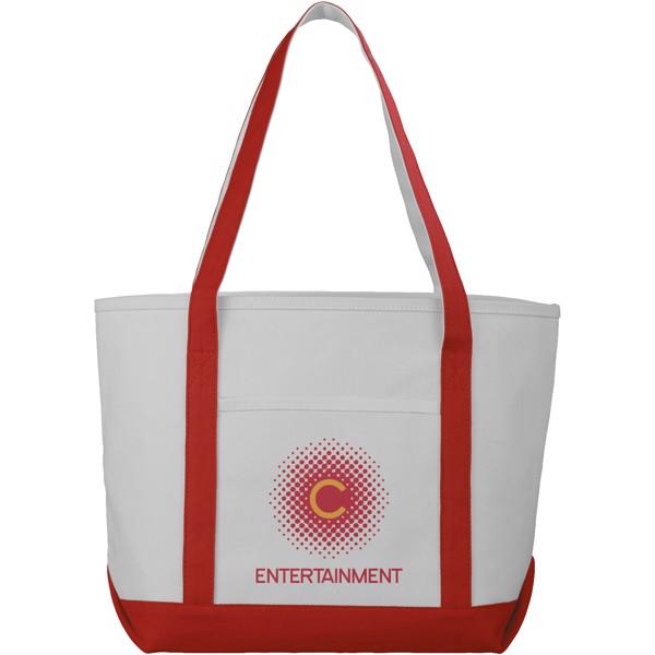 Lodičková taška Premium z hrubé bavlny - Přírodní / Červená s efektem námrazy