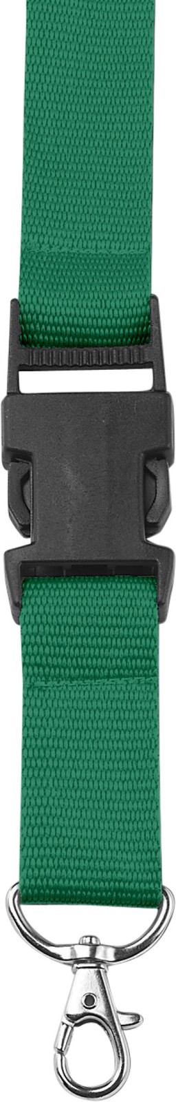 Polyester (300D) lanyard and key holder - Green