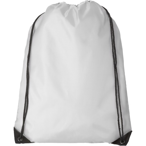 Oriole premium drawstring backpack - White