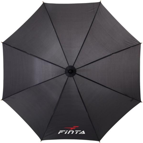 "Jova 23"" umbrella with wooden shaft and handle - Solid black"