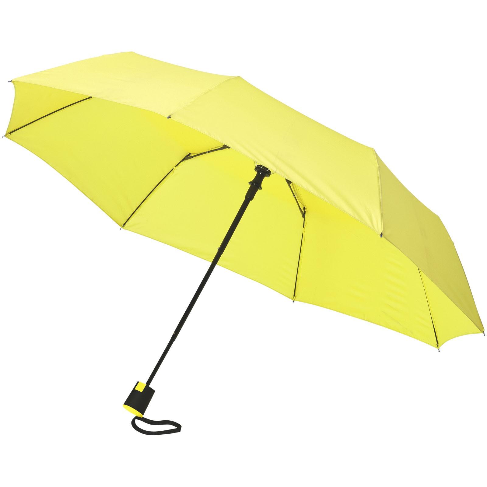 """Skládací deštník Wali 21"""" s automatickým otvíráním - Neonově Zelená"""