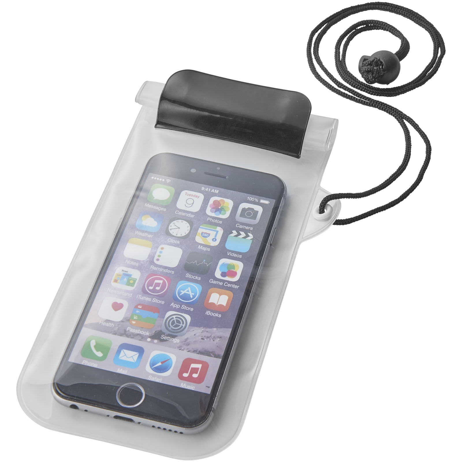 Mambo waterproof smartphone storage pouch - Solid black