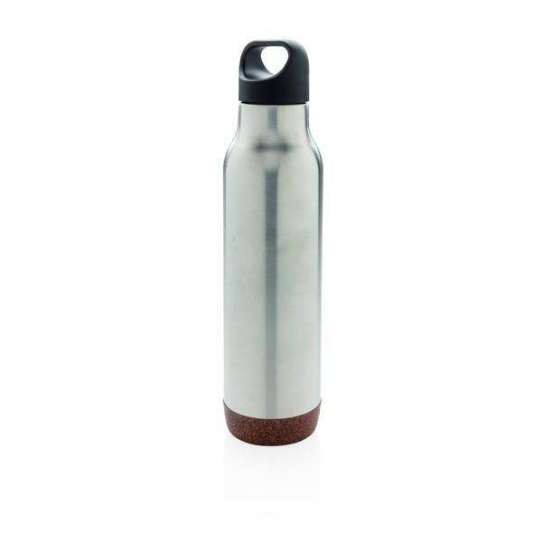 Nepropustná korková termo láhev - Stříbrná