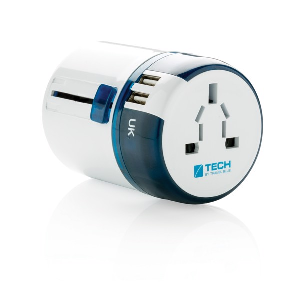 Adaptador de viaje mundial USB Travel Blue