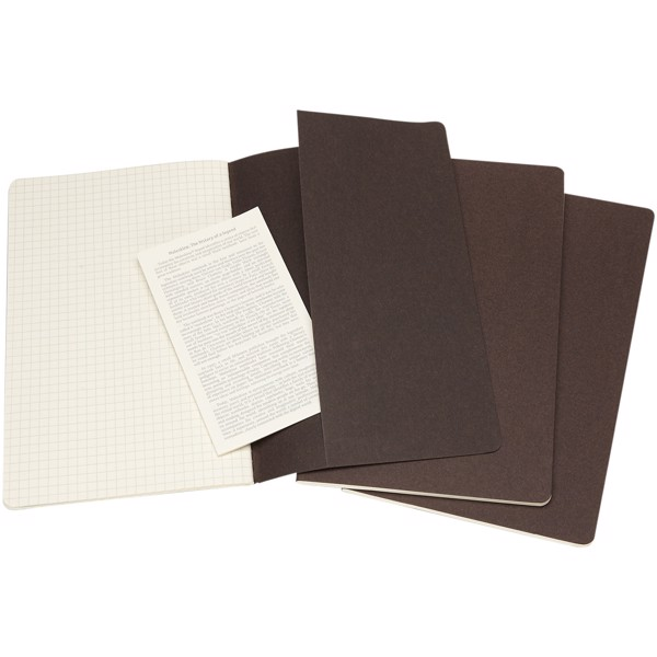 Cahier Journal L - squared - Coffee brown