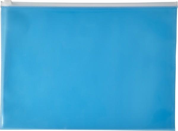 PVC document folder - Blue