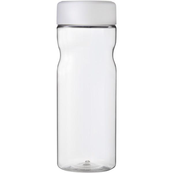 H2O Base 650 ml screw cap water bottle - Transparent / White