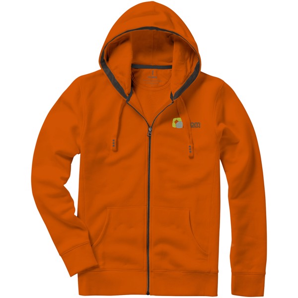 Arora hooded full zip sweater - Orange / XXL