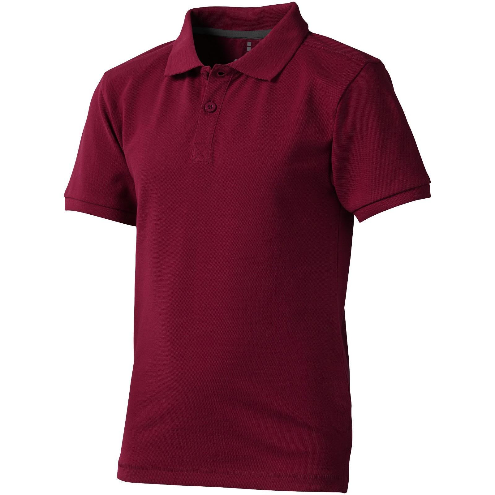 Calgary short sleeve kids polo - Burgundy / 152