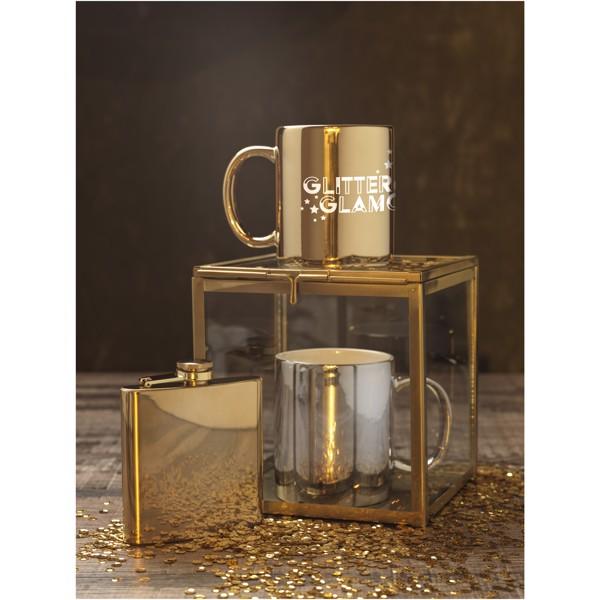 Gleam 350 ml ceramic mug - Silver