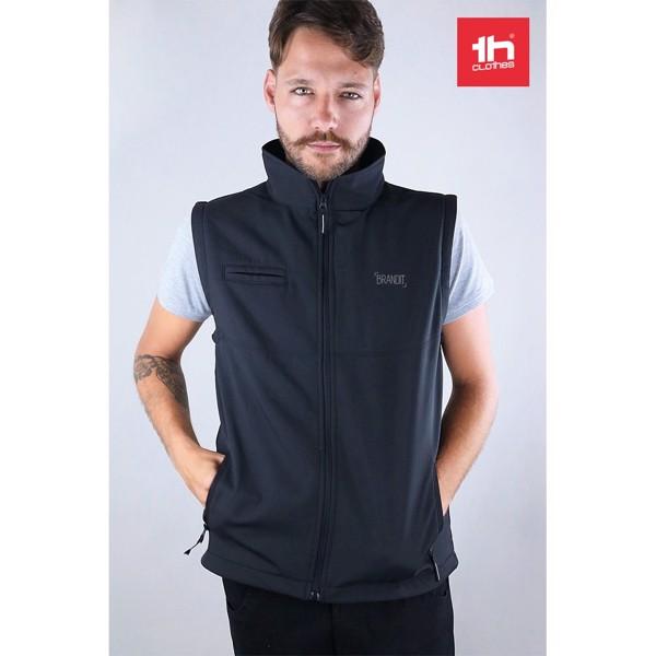 THC BAKU. Unisex softshellová vesta - Námořnická Modrá / M