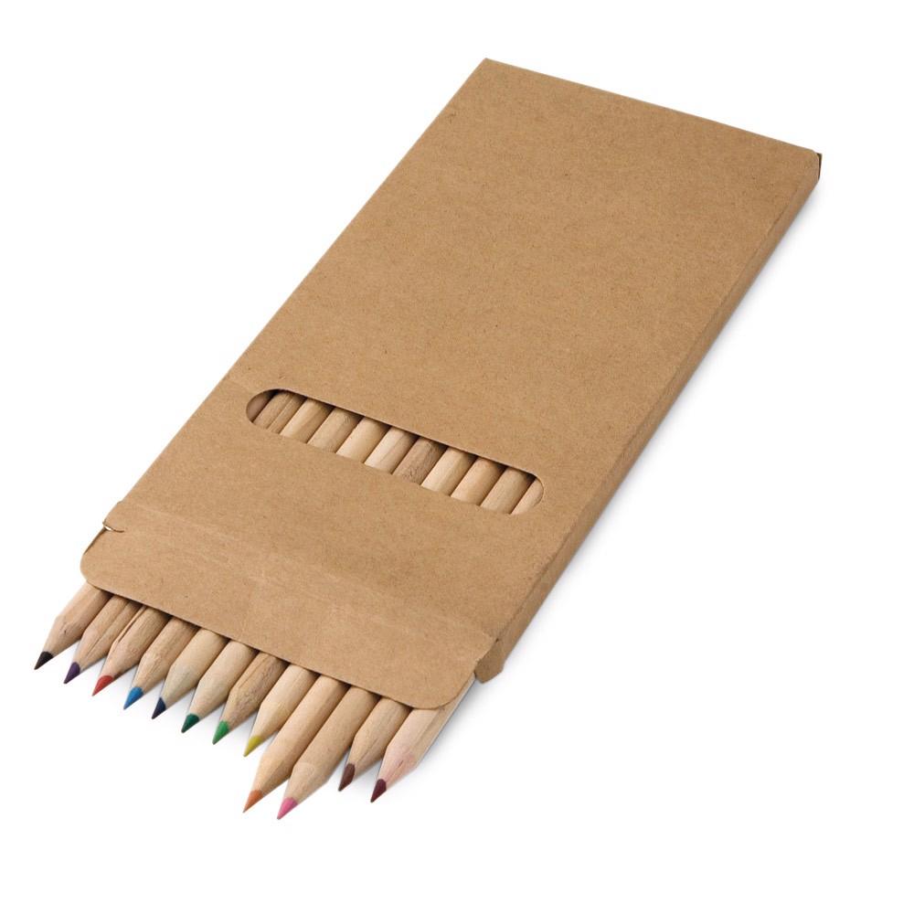 CROCO. Pencil box with 12 coloured pencils