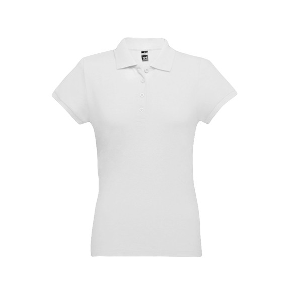 EVE. Γυναικεία πόλο μπλούζα - Λευκό / XXL