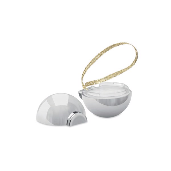 Christmas bauble lip balm Baublebam - Shiny Silver