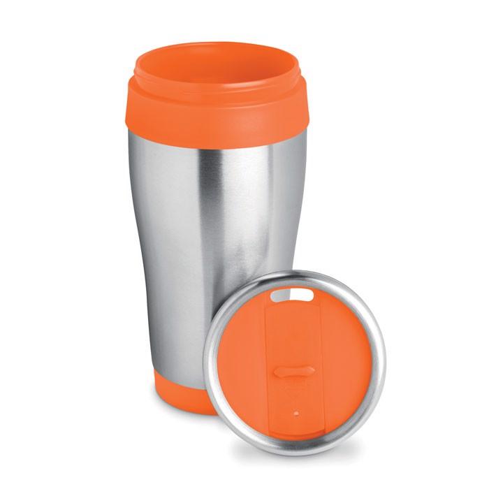 Stainless steel cup 455 ml Tram - Orange
