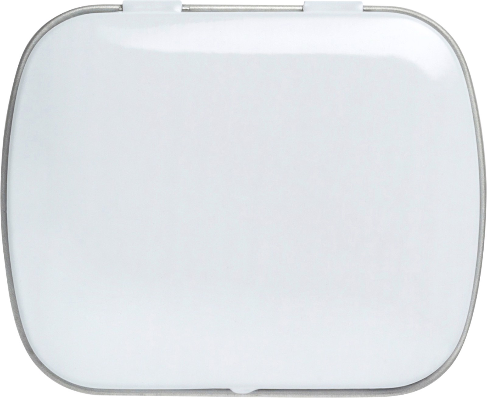 Tin case with mints - White