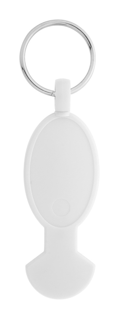 Trolley Coin Keyring Anycart - White